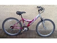 "Bike/Bicycle. GIRLS EMMELLE "" TYPHOON "" MOUNTAIN BIKE. SUIT 9-12 YEARS"