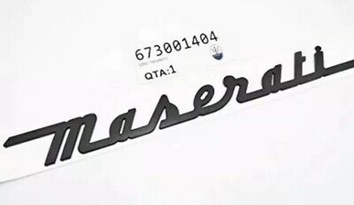 Maserati Quattroporte GranTurismo-Maserati Rear Emblem Script Black 673001404