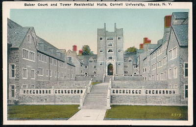 Ithaca Ny Cornell University Baker Court   Tower Residential Halls Vtg Postcard