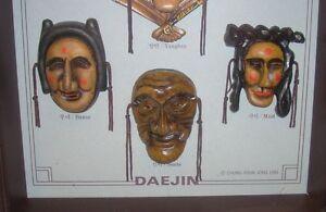 Korean Daejin Masks Play Hahoe Byeolsin Shadow Box Kitchener / Waterloo Kitchener Area image 6