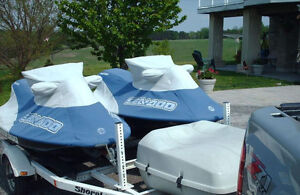 2 SeaDoo GSX Limited & Duel Shoreliner Trailer with Storage Box
