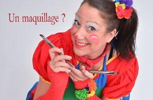 Animatrice pour enfant! ClownMaquillage-ballon-magie!