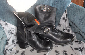 HD  ladies motorcycle boots