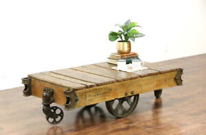 Vintage factory cart table ONLY PARTS