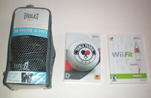 Wii Boxing Gloves, Table Tennis and Fitness Work Out Games