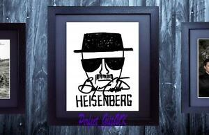 Bryan-Cranston-Breaking-Bad-SIGNED-AUTOGRAPHED-FRAMED-10x8-REPRO-PHOTO-PRINT