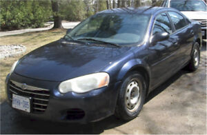 2004 CHRYSLER SEBRING LX - very reliable car
