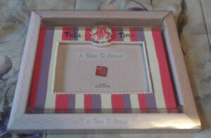 """Russ Handpainted Ceramic Picture Frame """"A Time to Dance"""" New"""