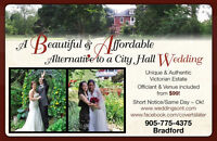 FROM $99  VENUE & OFFICIANT ~  WEDDINGS SIGNINGS & REGISTRATIONS