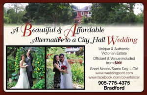 WEDDINGS! ~ from $99 ~ OFFICIANT with VICTORIAN VENUE INCLUDED