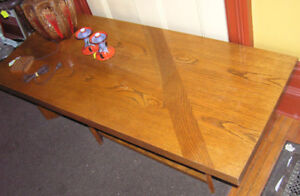 Large Mid Century Modern Oak Coffee Table