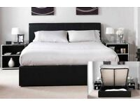BRAND NEW SMALL DOUBLE DOUBLE SINGLE AND KING LEATHER STORAGE BEDS WITH DIFFERENT MATTRESS RANGE
