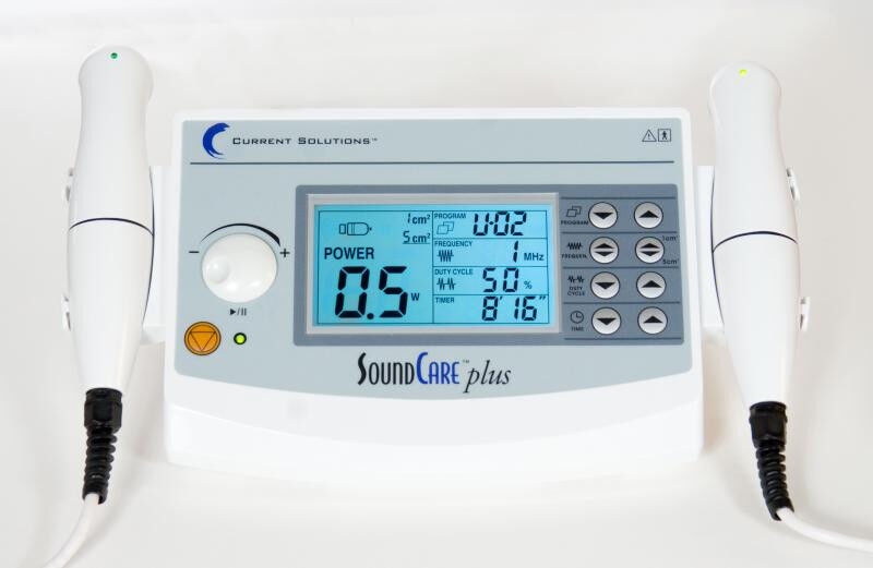 Current Solutions DQ9275 SoundCare Plus Ultrasound Therapy Device w/ 2 Sound Hds