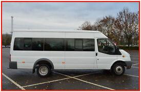 ✯ 2010 FORD TRANSIT 115 T430 2.4 TDCI 17 SEATER RWD MINI BUS LOW MILEAGE 30K ✯