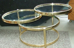 Decorative Articulate matching coffee and side tables Strathcona County Edmonton Area image 5