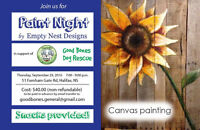 Paint Nght In Support of Good Bones Dog Rescue