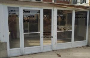 """Deck/Patio Enclosure - Alum, White, 9 Pcs, Approx 85"""" & 61"""" High"""