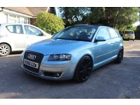 AUDI A3 8P 2.0TDI SPORT 6 SPEED MANUAL 12 MONTHS MOT FSH MODIFIED HIGHLY MAINTAINED RARE COLOUR