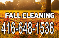Fall Clean-up ☎ 4166481536