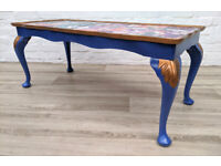 Painted Queen Anne Style Coffee Table (DELIVERY AVAILABLE)