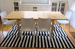 IKEA NORDEN Extendable Solid Birch Table (no chairs)