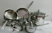 Cuisinart Induction Stainless Steel Cookware Set w/Straining Lid