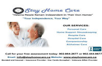 HELPING PEOPLE REMAIN INDEPENDENT IN THEIR OWN HOMEAt Stay Home