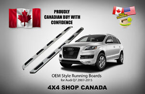 OEM Style Running Boards side step bar for Audi Q7 2007-2015