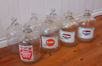 Clear Glass One Gallon Jugs