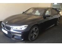 2016 BLACK BMW 750i 4.4 M SPORT PETROL AUTO 4DR SALOON CAR FINANCE FR £180 PW