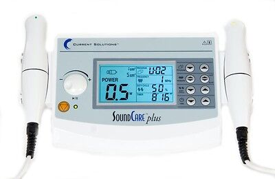 Current Solutions Dq9275 Soundcare Plus Ultrasound Therapy Device W 2 Sound Hds