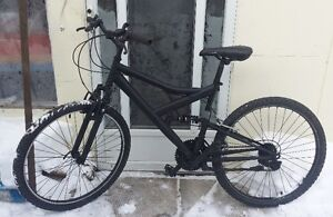 Mountain Bike For Sale, FULL SUSP. Raleigh BLACK , 20-Inch FRAME