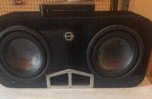 """2 10"""" type R alpine subs and amp"""