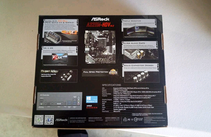 BRAND NEW ASROCK A320M-HDV R4 0 DESKTOP COMPUTER PACKAGE
