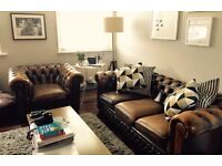 Chesterfield three seater and armchair for sale