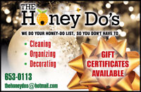 Holiday Cleaning- Gift Certificates available