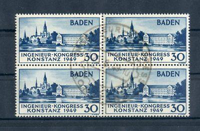 BADEN Nr.46I SST VIERERBLOCK bestgeprüft Schlegel BPP ME 340,-++ (131456)