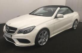 2016 WHITE MERCEDES E220 2.1 CDI B/TEC AMG LINE CONVERTIBLE CAR FINANCE FR £88PW