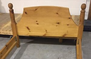 Solid Pine Bed Frame & Night Stand