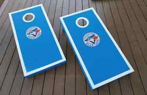 Blue Jays Handcrafted Cornhole Bean Bag Toss Game Kitchener / Waterloo Kitchener Area image 8