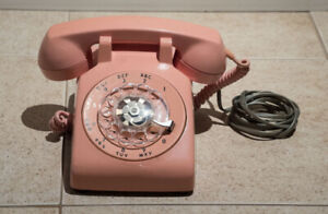 Northern Electric pink vintage rotary telephone