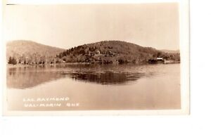 Carte postale photo de Val-Morin , Lac Raymond, Qué.