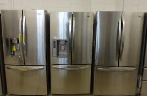 FRENCH DOOR STAINLESS STEEL FRIDGE FREE DELIVER UNTIL SUNDAY
