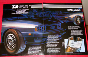 SWEET 1983 BF GOODRICH TA TIRES AD WITH AUDI 5000 / MAZDA RX-7