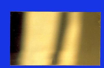 0,1 mm Ultrafeines Messing Blech, walzhart glatt, 100 mm x 200 mm