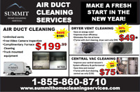 DUCT CLEANING ONLY $199.99! INCLUDES FULL FURNACE CLEANING!