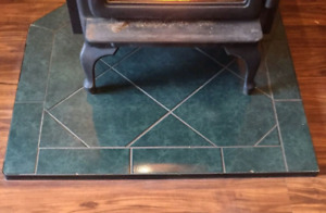 CERAMIC HEARTH for WOOD/PELLET STOVE