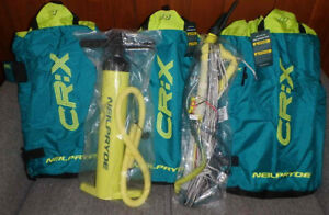 CR:X kiteboard & 3 kites + extras (kites, bar, pump NIB)