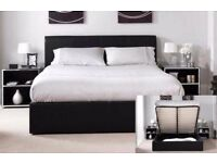 FANTASTIC King size leather storage bed with semi ortho mattress!! Order now , Same day selivery