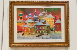 Russian original painting of Zagorsk